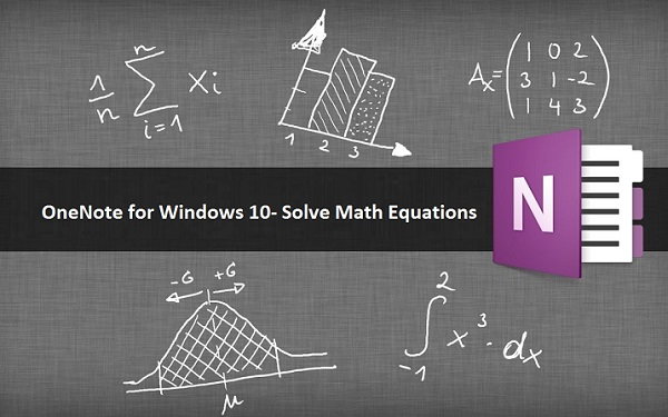 OneNote for Windows 10- How to convert and solve Math equations?