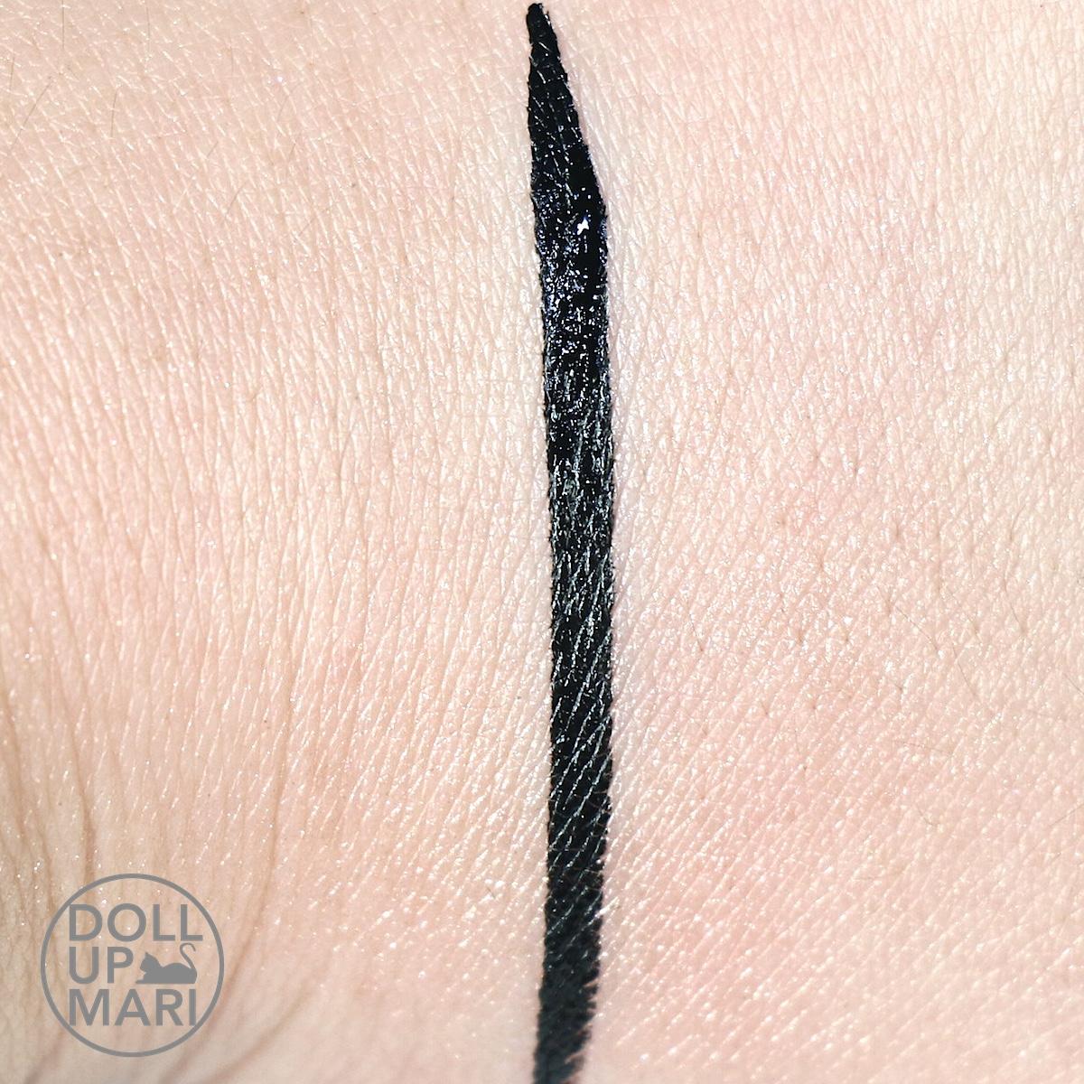 Maybelline Hyperink Liquid Dip Pen Eyeliner Review And Swatches Hyper Ink Eye Liner Black Swatch