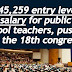 P45,259 salary increase for public teachers, pushed in the 18th congress