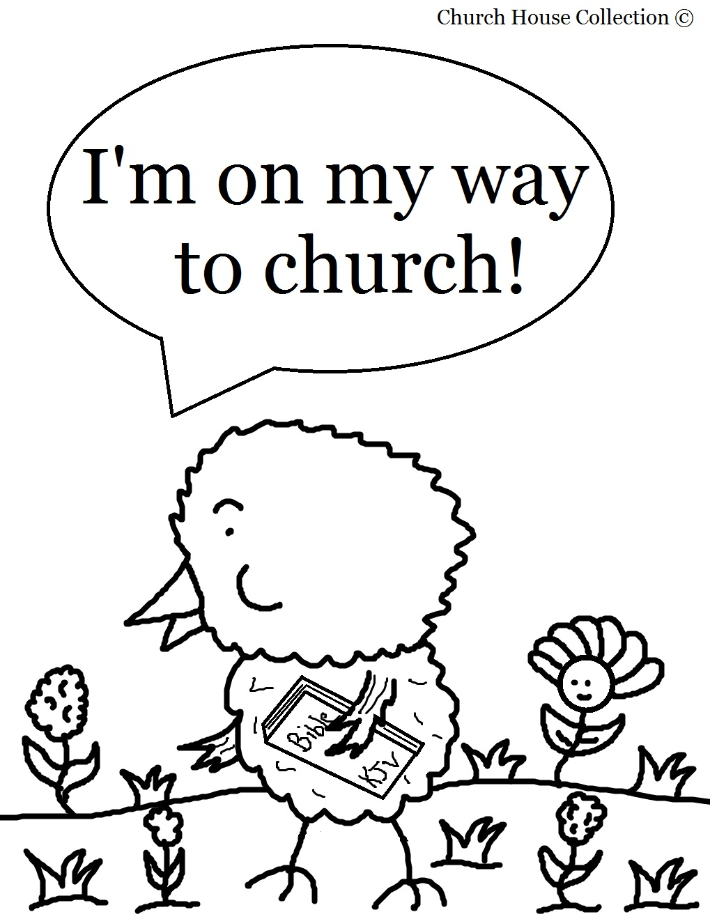 Church House Collection Blog: Easter Chick Coloring Page