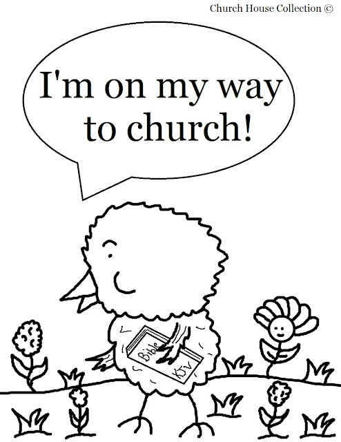 sunday school coloring page - church house collection blog easter chick coloring page