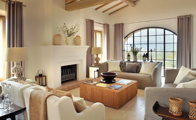 Mediterranean living room furniture idea