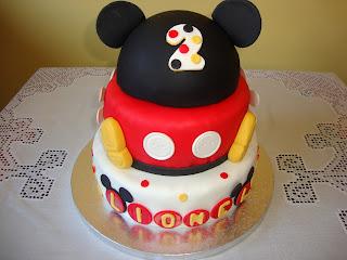 Tarta Mickey Mouse de pisos