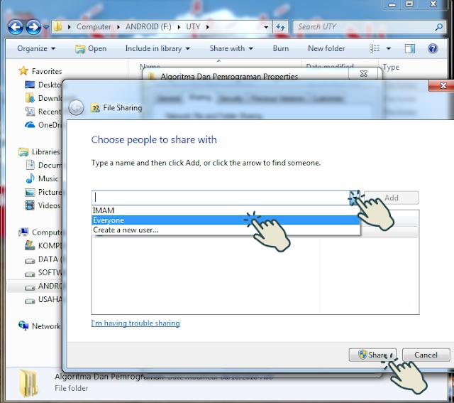 Sharing file atau folder 3