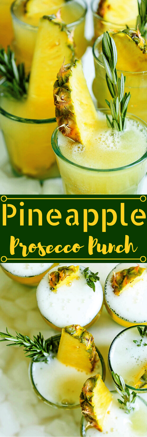PINEAPPLE PROSECCO PUNCH #punch #easy #pineapple #drink #cocktail