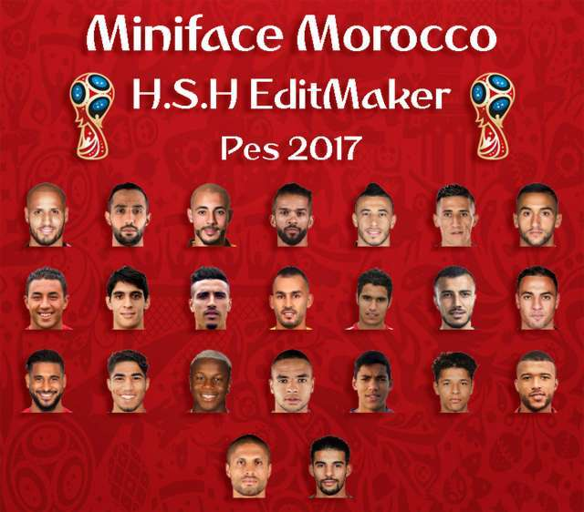 Miniface Morocco World Cup 2018 PES 2017