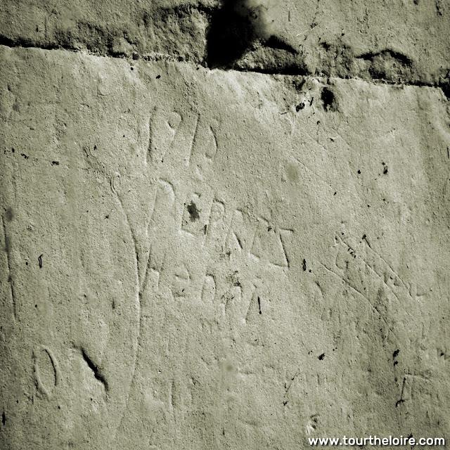 WWI graffiti at the Chateau de Chenonceau, Indre et Loire, France. Photo by Loire Valley Time Travel.