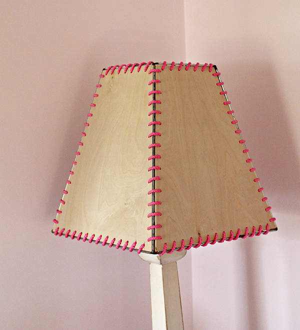 diy plywood lampshade