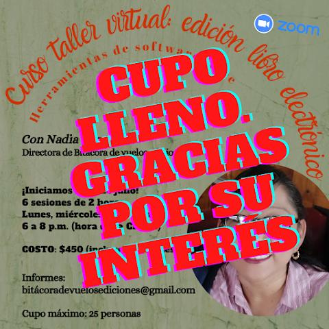 #INVITACIÓN Curso taller virtual: edición libro electrónico. Herramientas de software libre, que impartirá Nadia Contreras