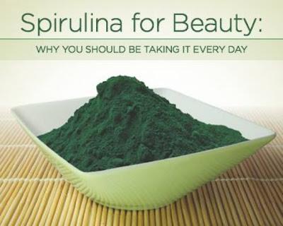 Gambar Spirulina untuk kesehatan dan kecantikan Kulit bebas jerawat dan flek hitam