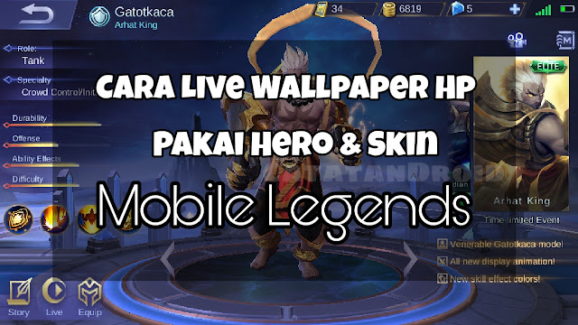 How to Live Wallpaper Using Animation Hero and Mobile Legends Skin