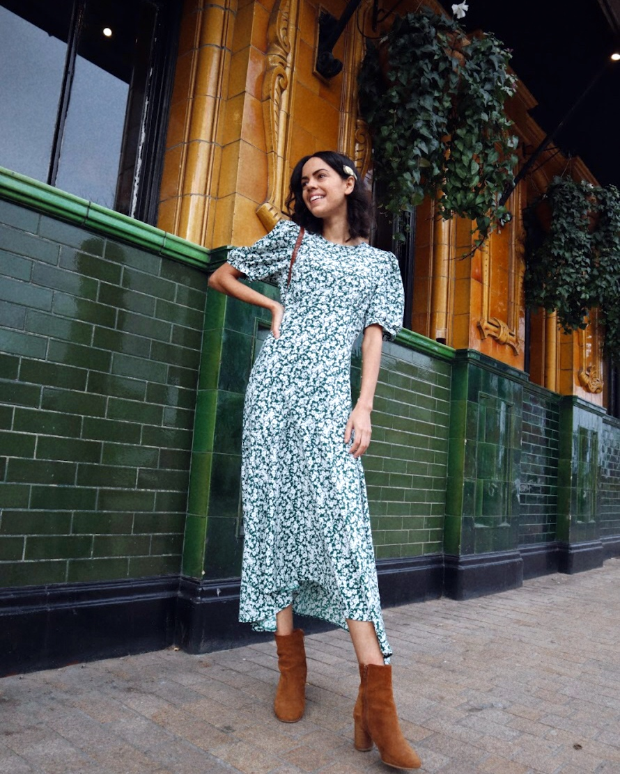 jazzabelle's diary green ditzy floral primark dress