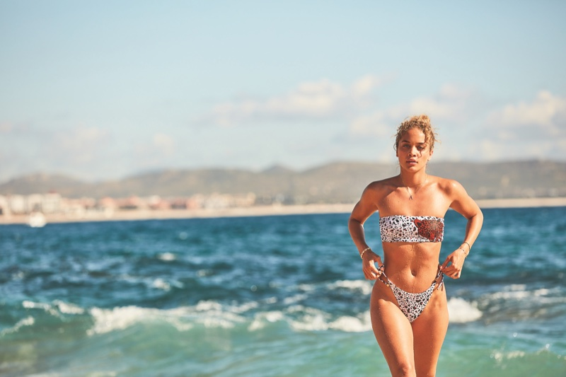 Jasmine Sanders stars in Victoria's Secret Swim Spring 2020 campaign