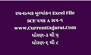 Std 6 to 8 Rachanatmak Mulyankan Sem 1 SCE Patrak Excel
