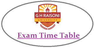 GH Raisoni University Exam Date Sheet 2020