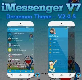 iMESSENGER V7 DORAEMON THEME Base v3.0.1.25 Apk Terbaru