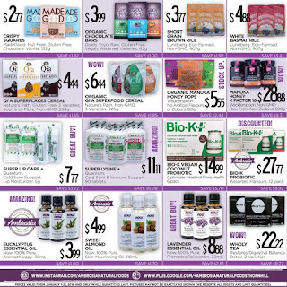 Ambrosia Natural Foods Weekly Flyer January 1 – 31, 2018