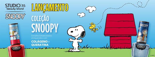 Esmaltes: Nova coleção Studio 35 Snoopy