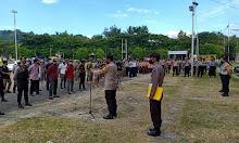 Polres Sinjai Gelar Apel Kesiapan Pengamanan, Jelang Kedatangan Menteri Pertanian