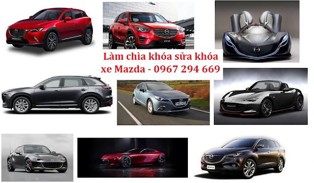 Dịch vụ làm chìa khóa đánh khóa xe ô tô Mazda có bảo hành