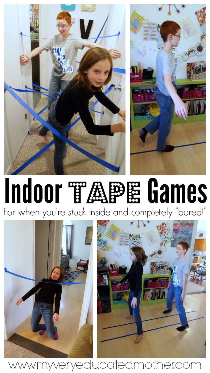 Stuck in side thanks to the weather? Try one of these indoor games to keep the kids from getting bored!