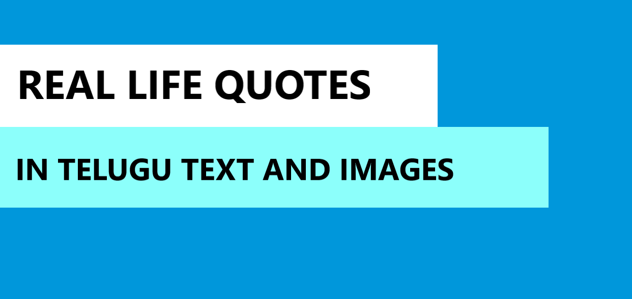Real Life Quotes in Telugu Text and images
