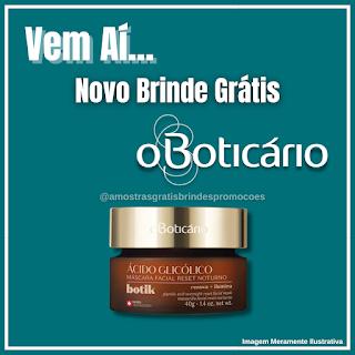 Novo Brinde Boticário Máscara Fácil Botik