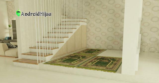 memanfaatkan space kosong di sebelah tangga sebagai tempat ibadah