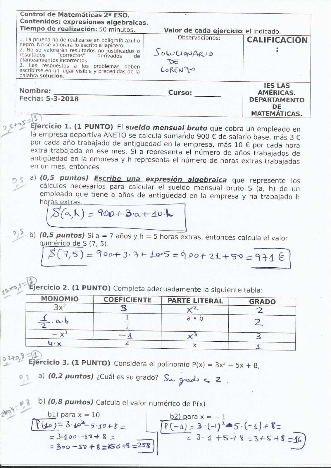 Fantástico Palabra Polinomio Hoja Problema Imágenes - hojas de ...