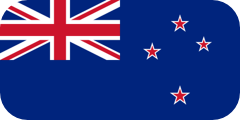 Rounded flag of New Zealand