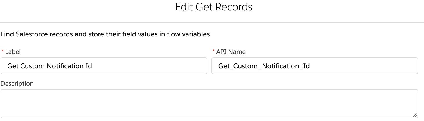 Custom Notification Id in Flows