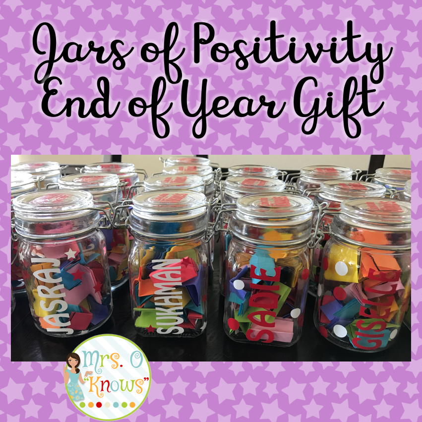 Jars Of Positivity End Of Year Gift Mrs O Knows