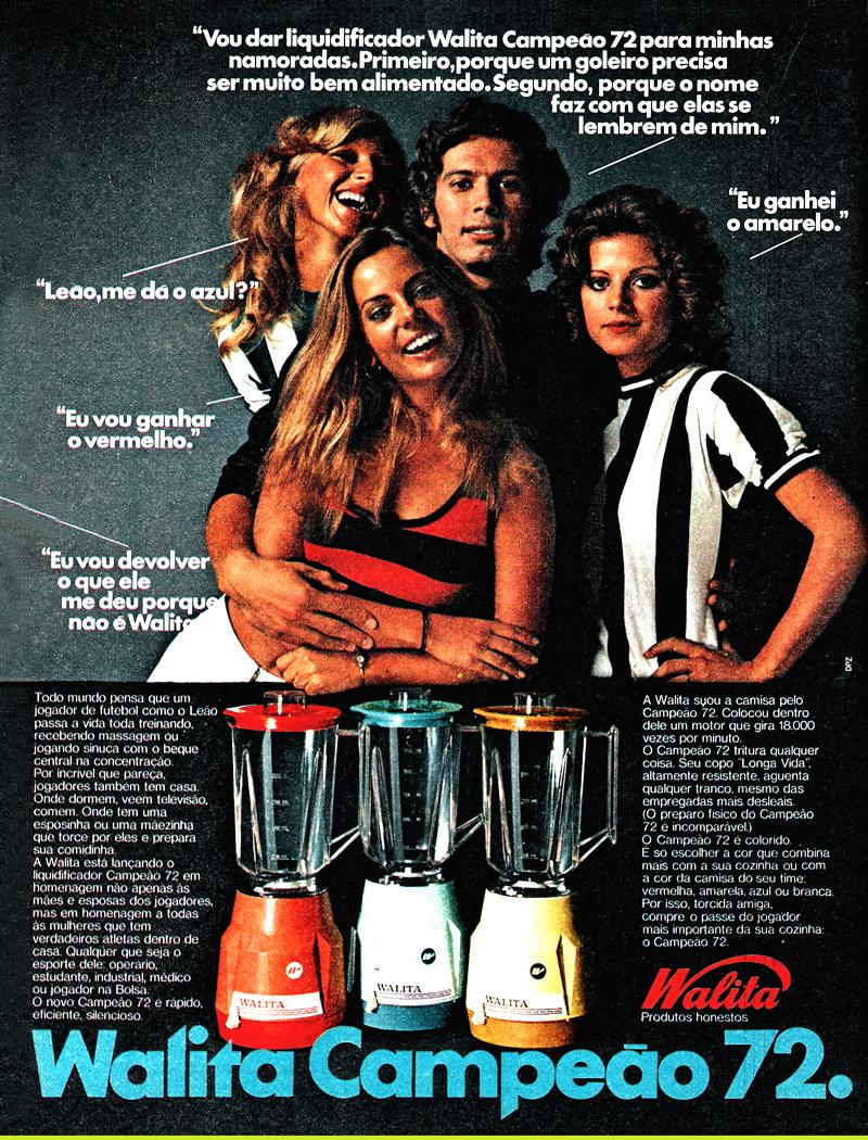 Propaganda antiga da Walita apresentando a linha de liquidificadores do ano de 1972