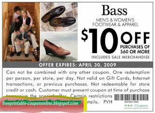 Free Printable Bass Coupons