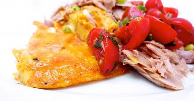 Omelet Recipe With Tuna & Tomato Salsa Recipe
