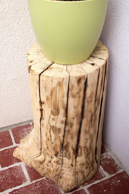 Diy Beistelltisch Aus Einem Baumstamm Green Bird Diy Mode Deko