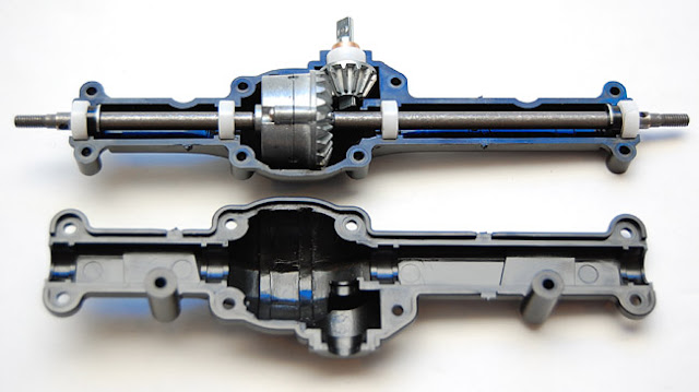 Tamiya Jeep Wrangler axle assembly