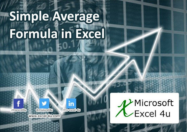 Simple Average Formula in Excel