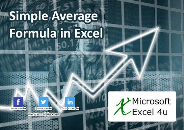 Simple Average Formula in Excel