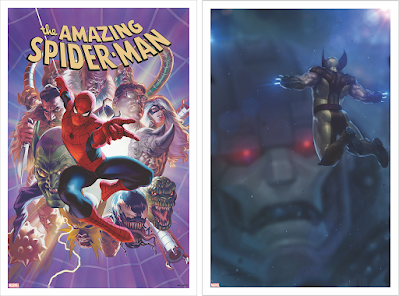 Spider-Man & Wolverine Variant Cover Marvel Comics Art Prints by Artists Alex Ross, Jeehyung Lee & Grey Matter Art