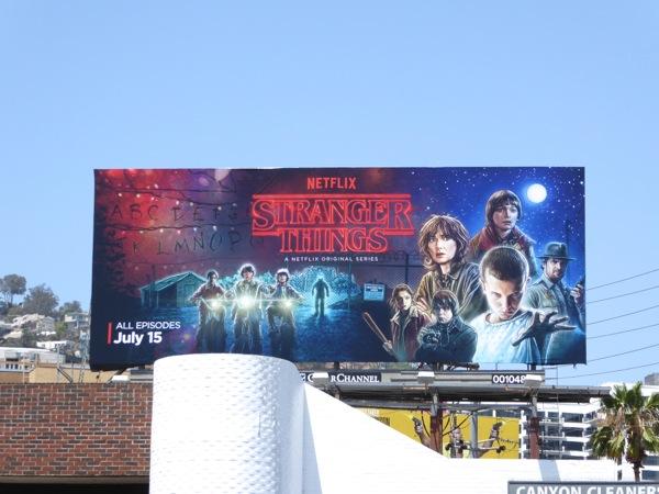 Stranger Things series premiere billboard