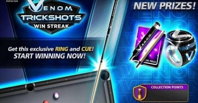 Venom Trickshots Win streak 8 ball pool