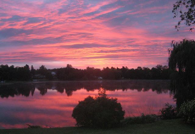 sunrise over the Rideau River, near Manotick, Ontario