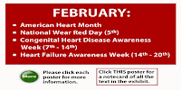 Different dates in February for American Heart Month
