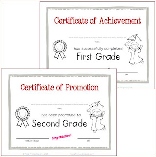 First Grade Graduation Certificates to print