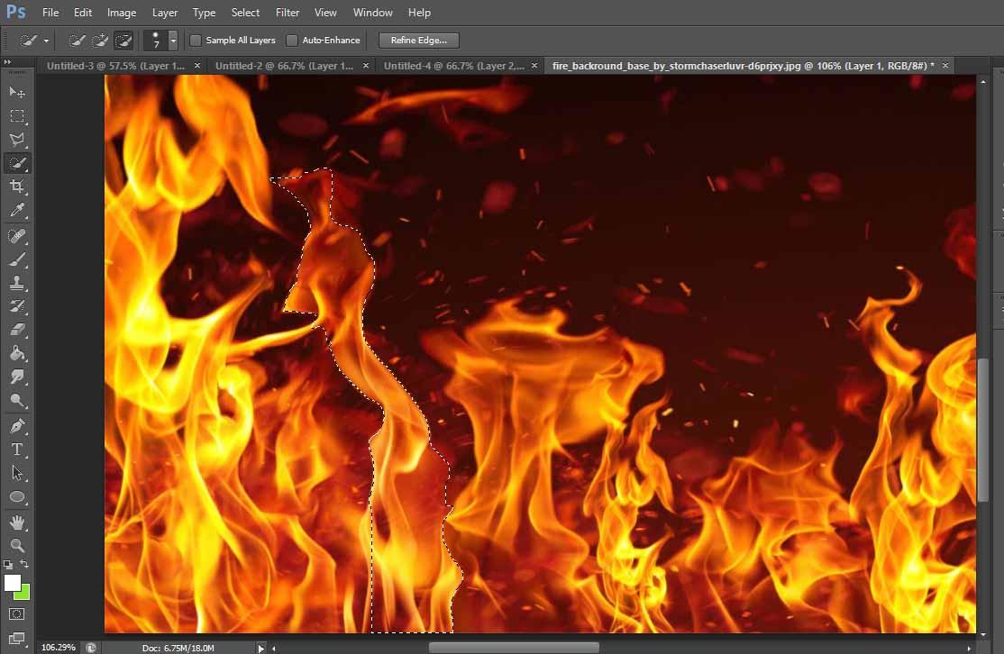 manipulasi photoshop elemen api | | Desain Sekarang