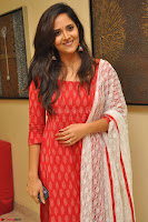 Anasuya Bharadwaj in Red at Kalamandir Foundation 7th anniversary Celebrations ~  Actress Galleries 008.JPG
