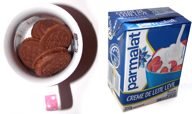 biscoito e creme de leite