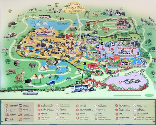 Safari World Bangkok Map