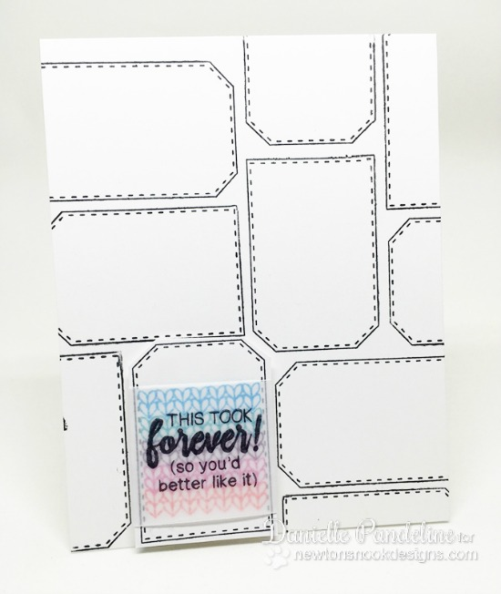 Stitched Tags Card by Danielle Pandeline | Tag Sampler stamp set by Newton's Nook Designs #newtonsnook
